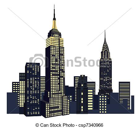 New York clipart New York Buildings Clipart York Clip New Illustration