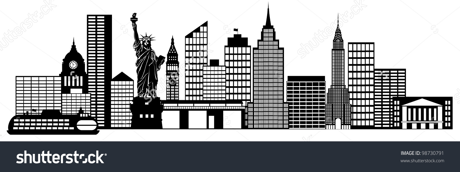 Panorama clipart cityscape Skyline Skyline New York collection