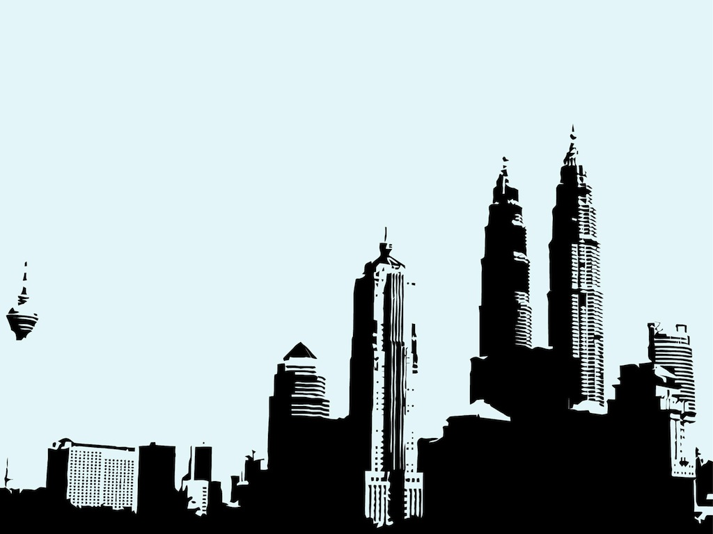 Skyscraper clipart skyline building New Skyline Free and Clipart