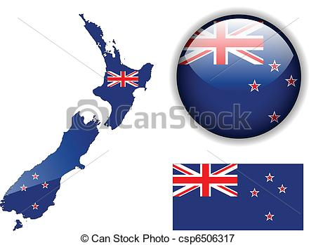 New Zealand clipart  csp6506317 New glossy of