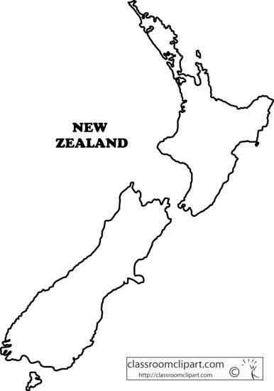 New Zealand clipart New Zealand Map Clipart : new_zealand_outline_map_ga2 Clipart : Zealand