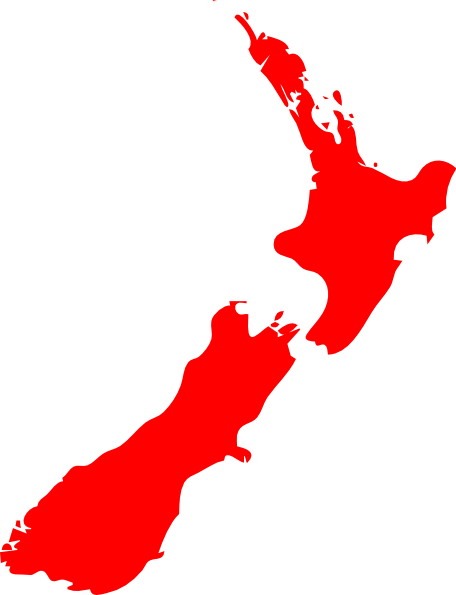 New Zealand clipart New Zealand Map Clipart Clker Clip Download at