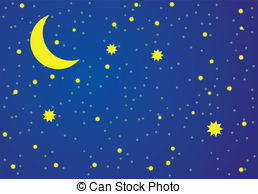Night clipart  Vector Clip stylized Vector