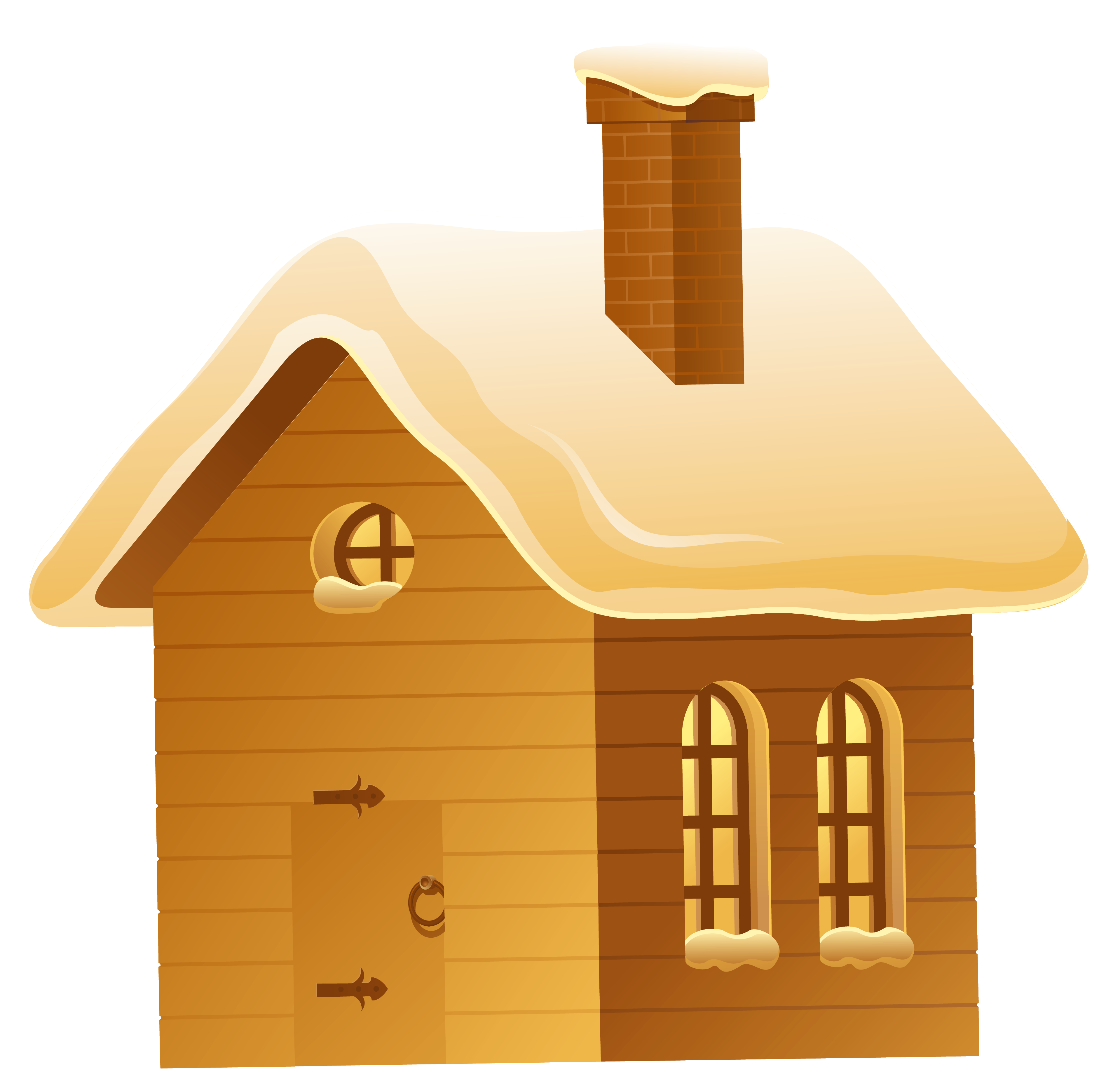 Night clipart at home Winter size House View PNG