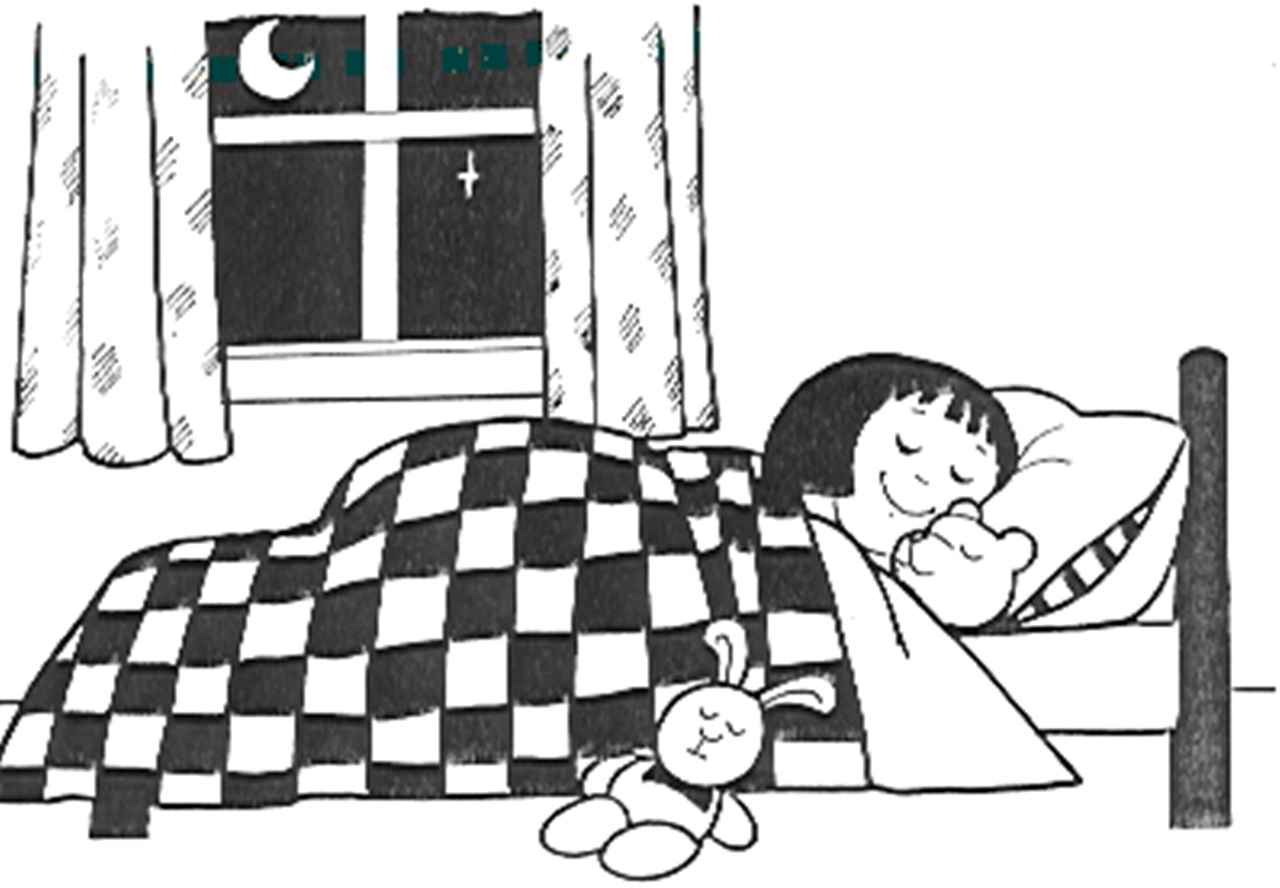 Bed clipart badroom Bed Girls Free Clip Clipart