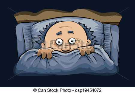 Scary clipart bed #2