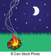 Changing To Night  clipart campfire Photos stars moon Images Campfire