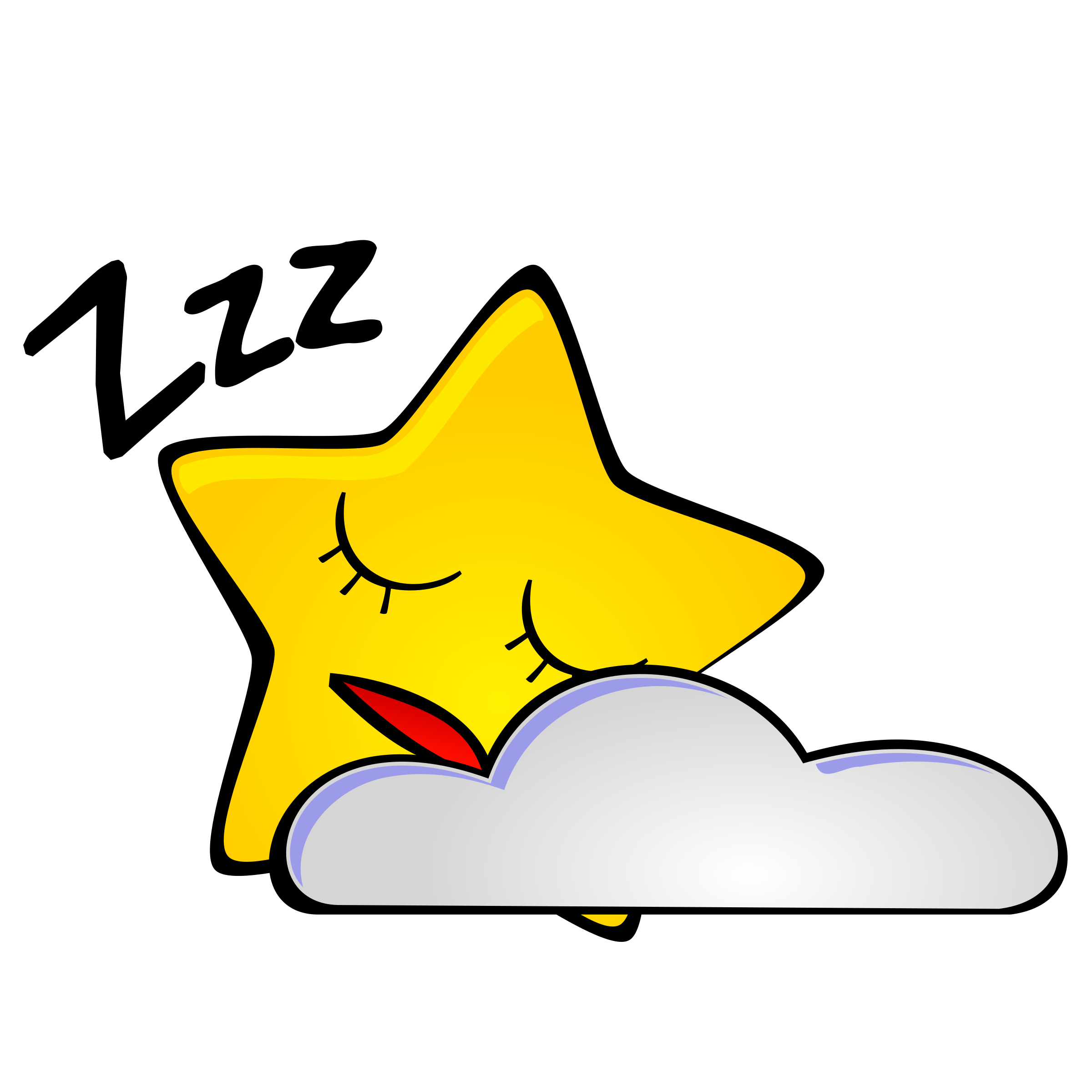 Night clipart cartoon Starry Star Star night: night: