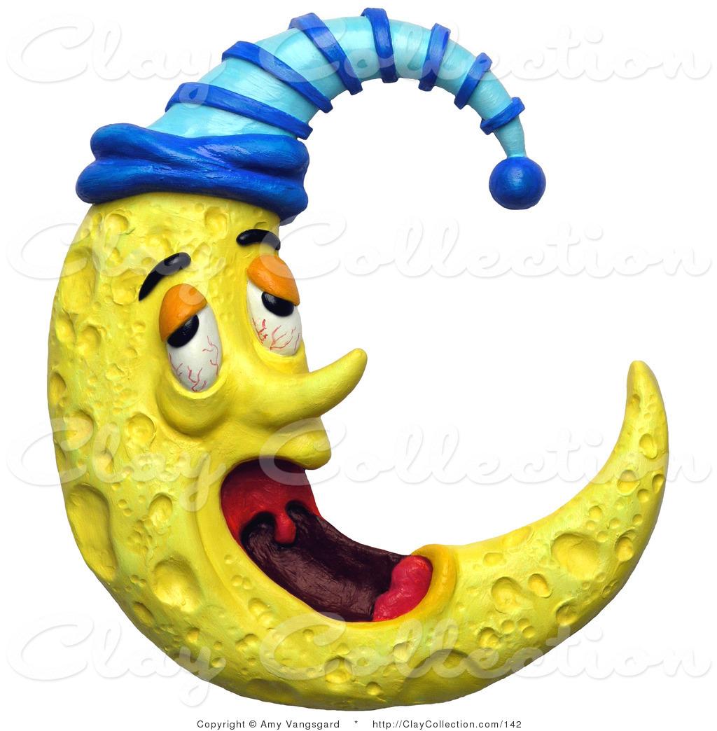 Night clipart cresent moon Yawning Moon  Yawning of