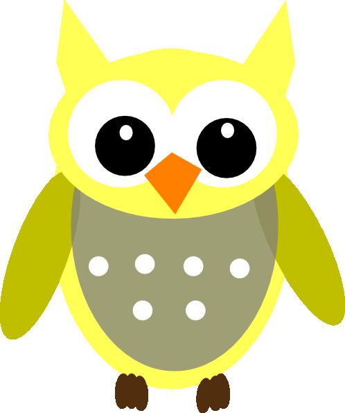 Night clipart gray owl Owl clip Owls art Gray