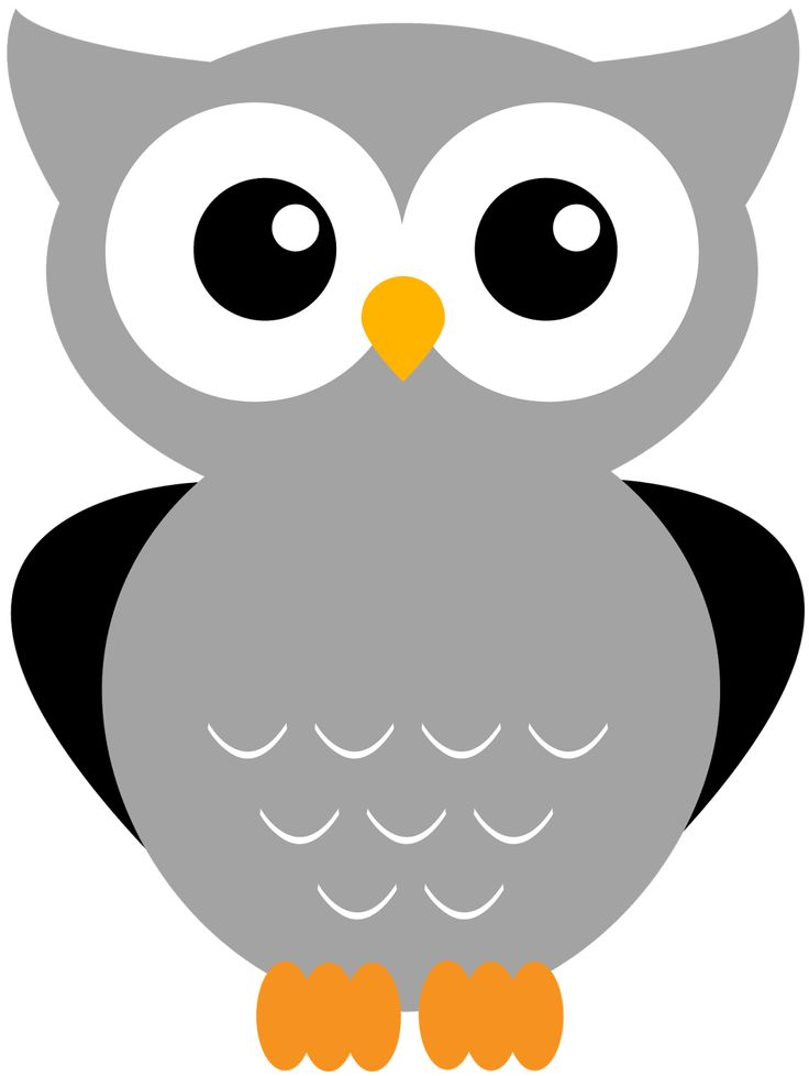 Night clipart gray owl Clipart Print on Giggle best