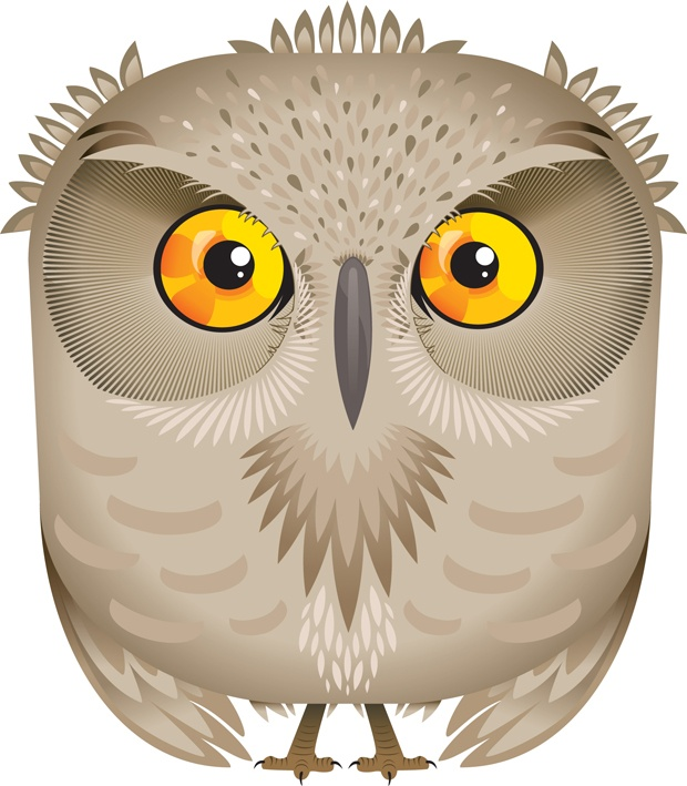 Night clipart gray owl Design by owldesign on best
