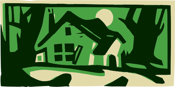 Night clipart house #8