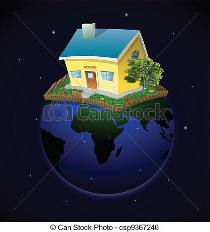 Night clipart house #7