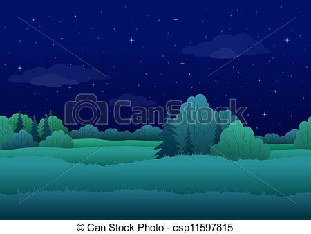 Night clipart night background #15