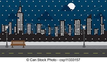Night clipart park Clipart city of Park Vector