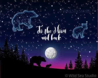 Night Sky clipart astronomy Art dipper digital Clipart Night