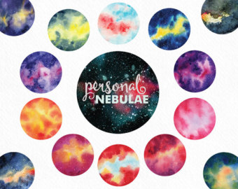 Night Sky clipart astronomy Painted hand clipart clipart Watercolor