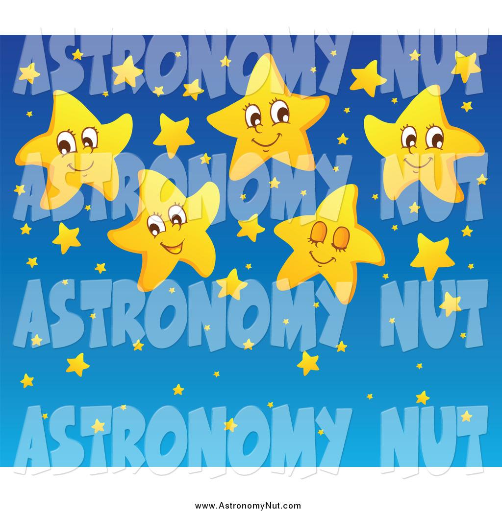 Night Sky clipart astronomy Blue Star Happy Yellow Sky