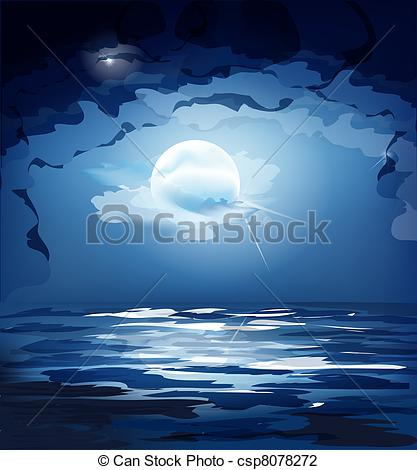 Night Sky clipart blue night Blue Stock of the and