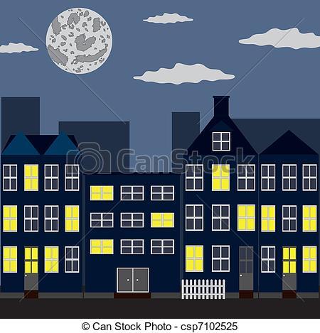 Bulding  clipart night Of sky of Night night