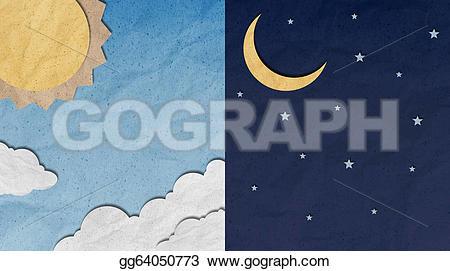 Drawn night sky clipart  night craft sky day
