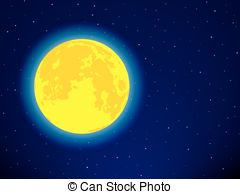 Blur clipart full moon EPS of sky Vector moon