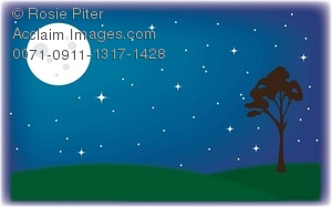 Night Sky clipart graphic #4