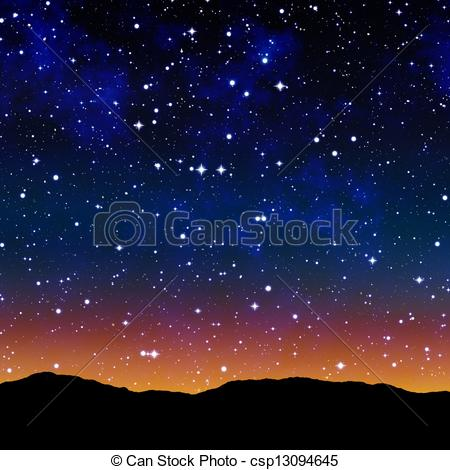 Night Sky clipart night drawing Drawing sky or sky at