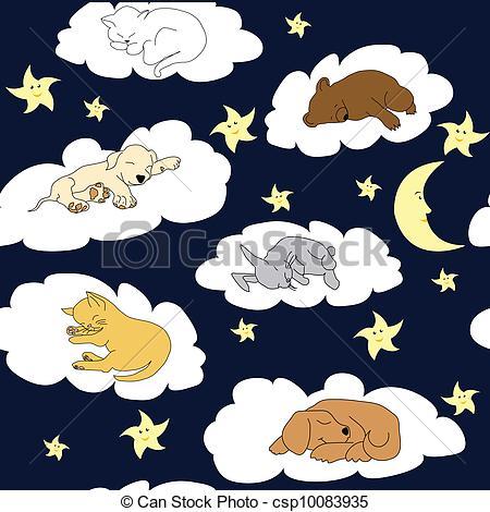 Night Sky clipart night drawing Cartoon Vectors with cute sleeping