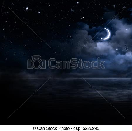 Night Sky clipart night drawing  the Stock sky the