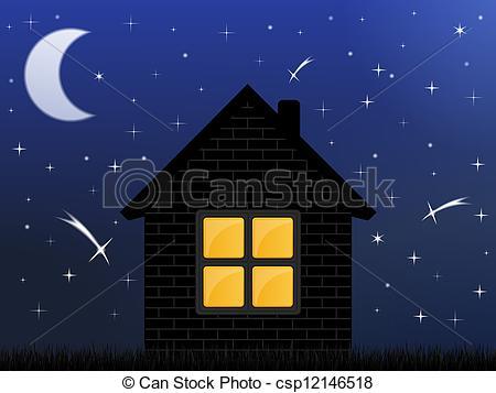 Night Sky clipart night drawing Night Night house Night Silhouette