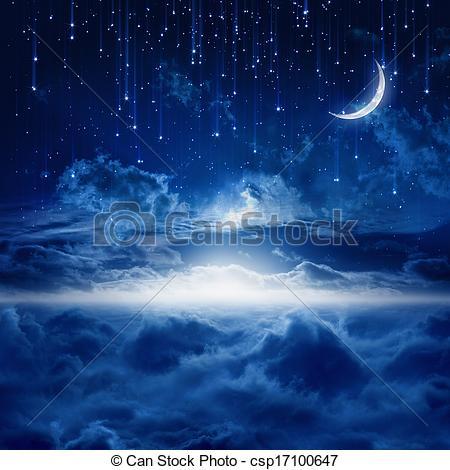 Night Sky clipart night drawing Beautiful Peaceful Drawing night sky