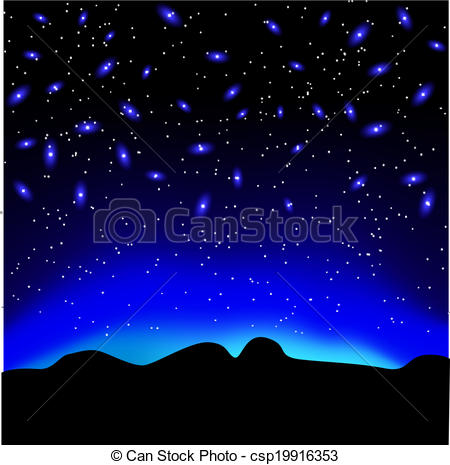 Night Sky clipart night drawing Over over background Stars the