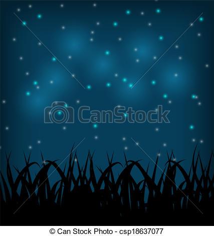 Night Sky clipart night drawing Vectors Night Illustration field Illustration