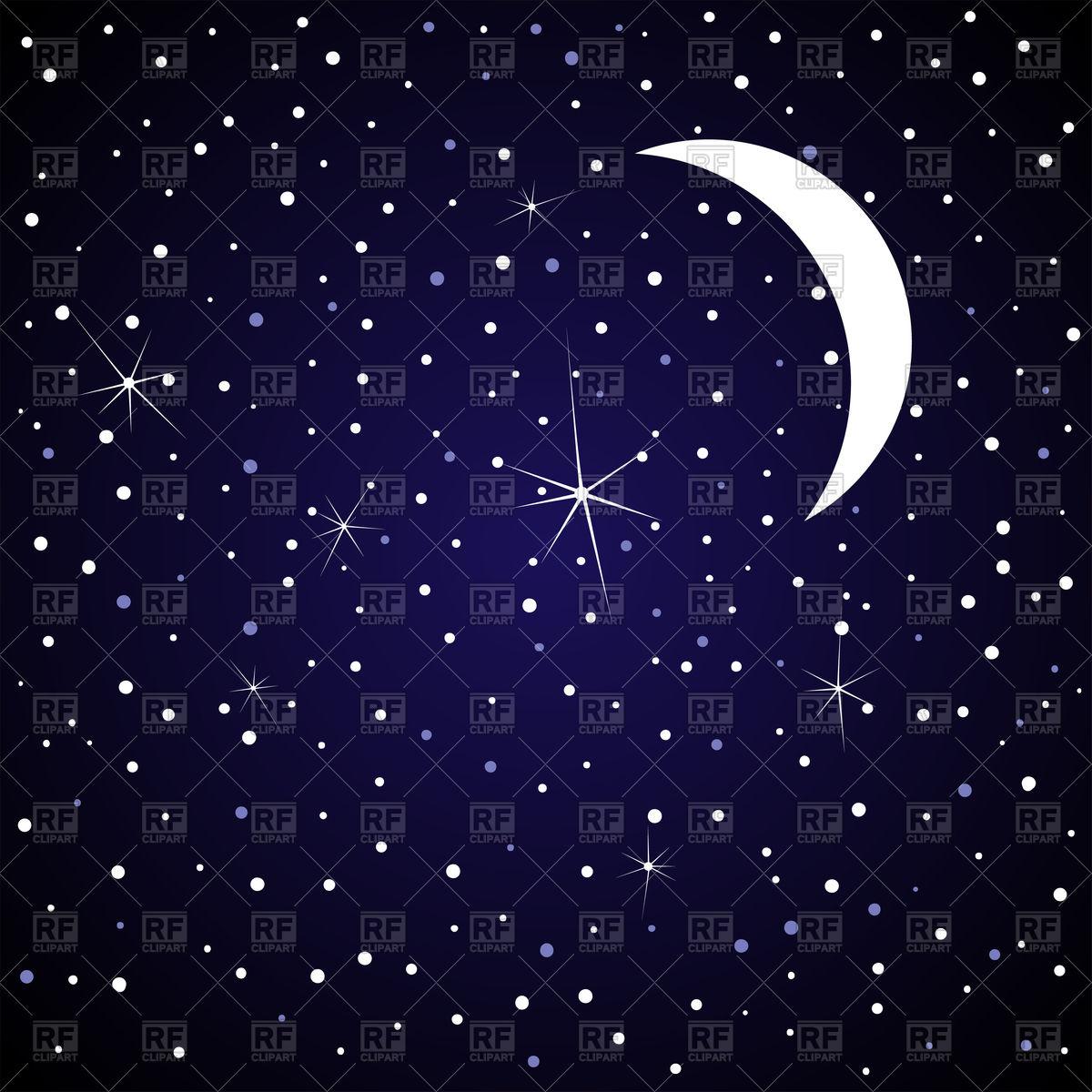 Night clipart moon star Sky Night download sky free