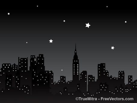 Night Sky clipart night skyline City City Night Clipart me
