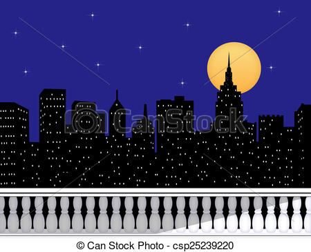 Night Sky clipart night skyline Skyline From From of Terrace