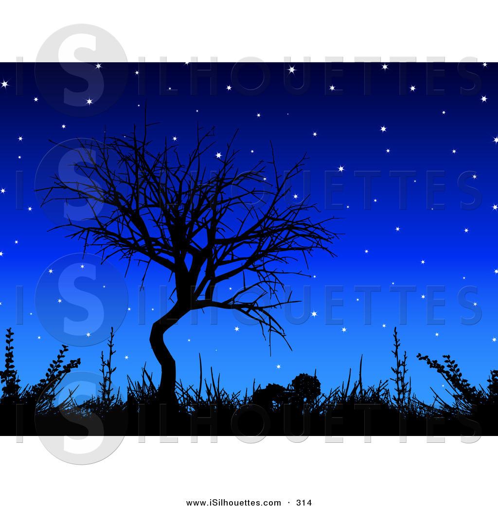 Night Sky clipart night skyline Forest Art Clipart Clip Skyline