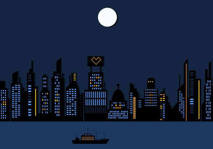 City clipart night time Art Nighttime Clipart Clip Library