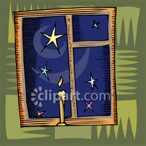 Window clipart night window Royalty Through Clipart Royalty Sky