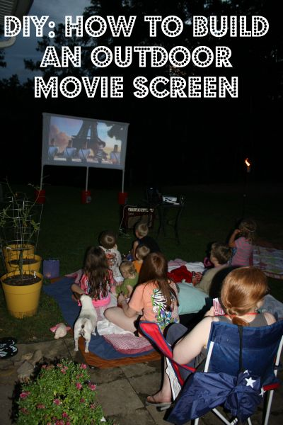 Changing To Night  clipart outdoor movie screen Movie Plans backyard Outdoor images