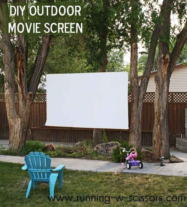 Changing To Night  clipart outdoor movie screen Screen 41 DIYs projector Pinterest