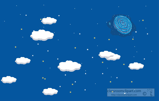 Night Sky clipart powerpoint Sky Cliparts galaxy e stars