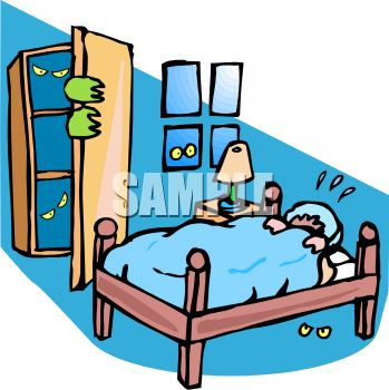 Bed clipart terrified Clipart 20clipart Free Clipart nightmare%20clipart