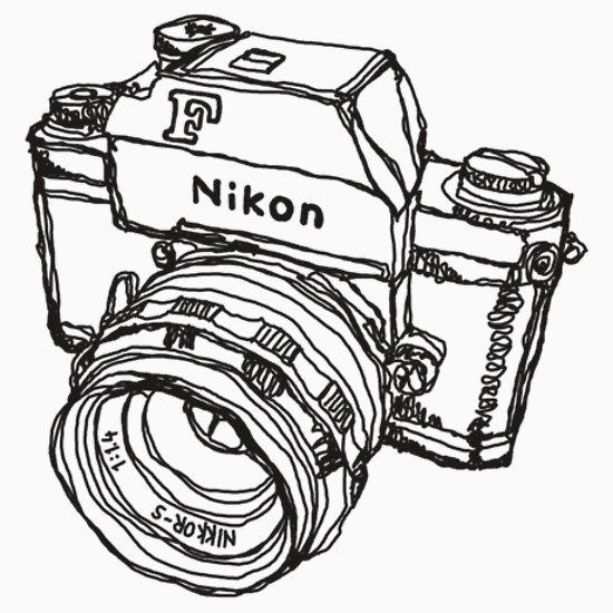 Nikon clipart Camera drawing Nikon camera clipart