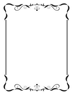 Classic clipart page accent  Free Borders Designs antique
