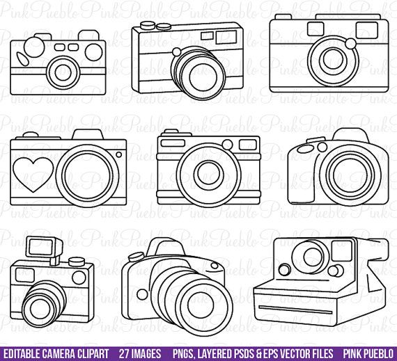 Photography clipart simple camera Best Camera outline PinkPueblo 20+