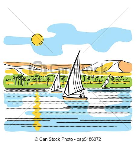 Nile River clipart With the View Egypt Egypt