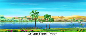 Nile River clipart Art Nile  Illustrations Nile